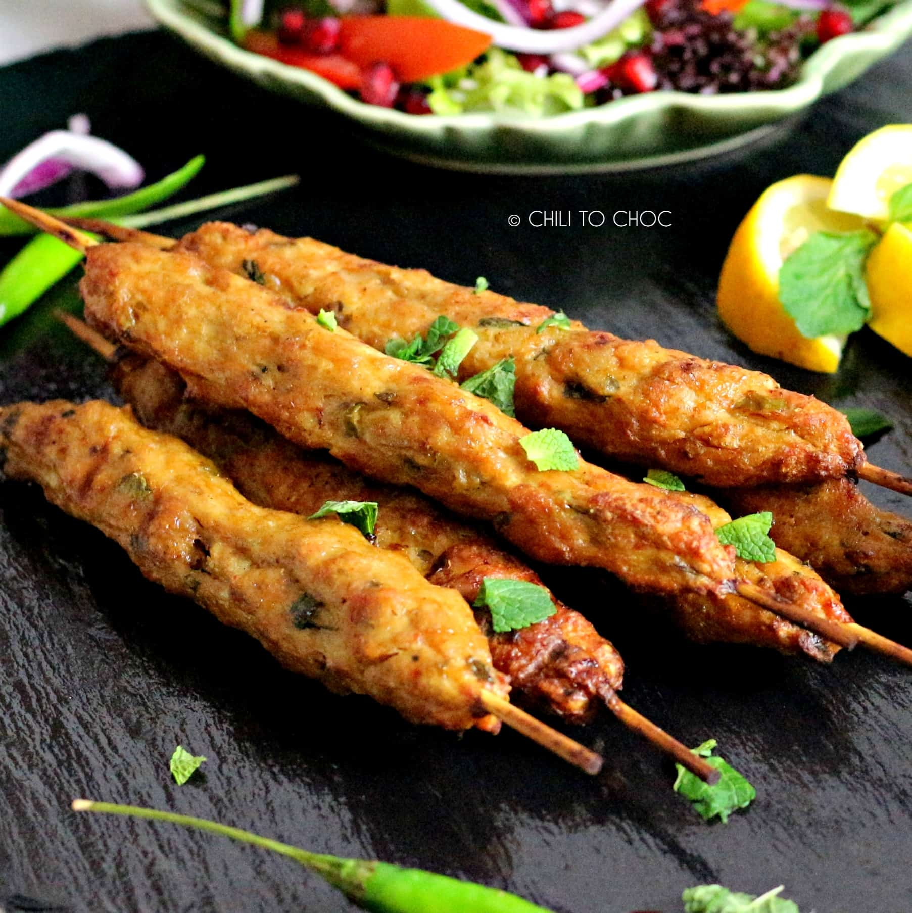 Beef Seekh Kabab - Chili to Choc
