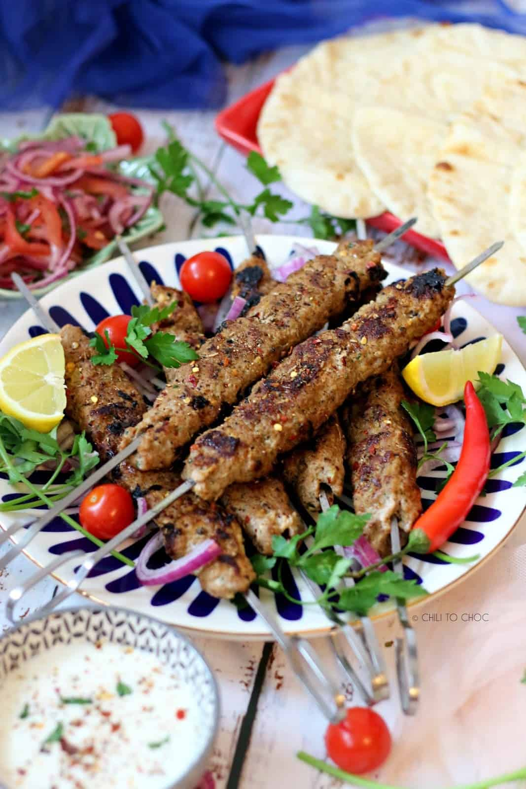 Turkish Lamb Adana Kebab Chili To Choc