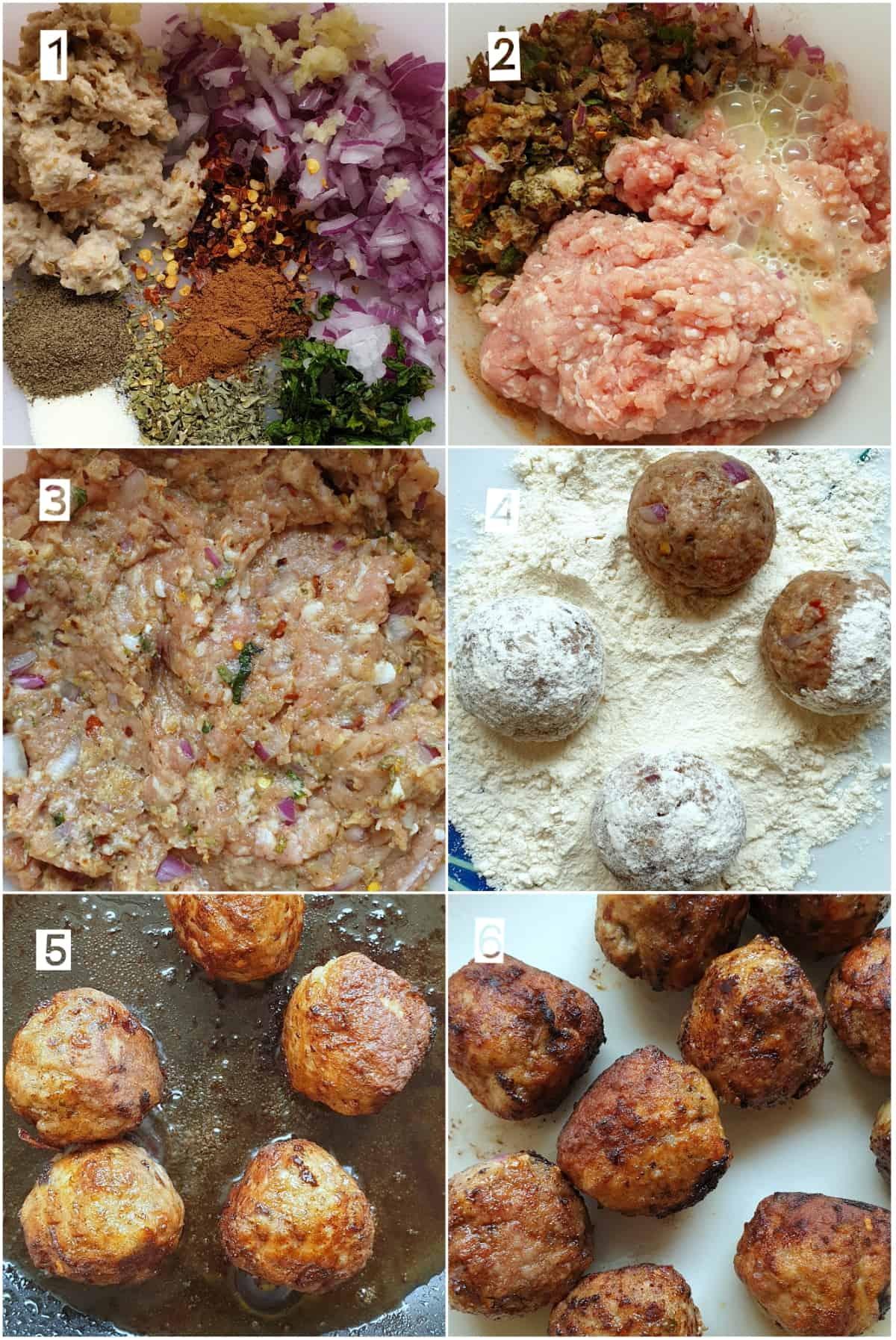 Step by step instructions of how to make greek meatballs (keftedes)